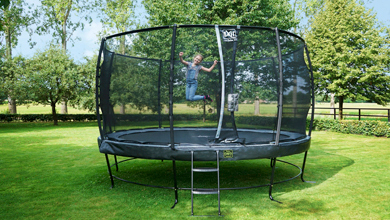 What are the differences between the Elegant trampolines from EXIT Toys?