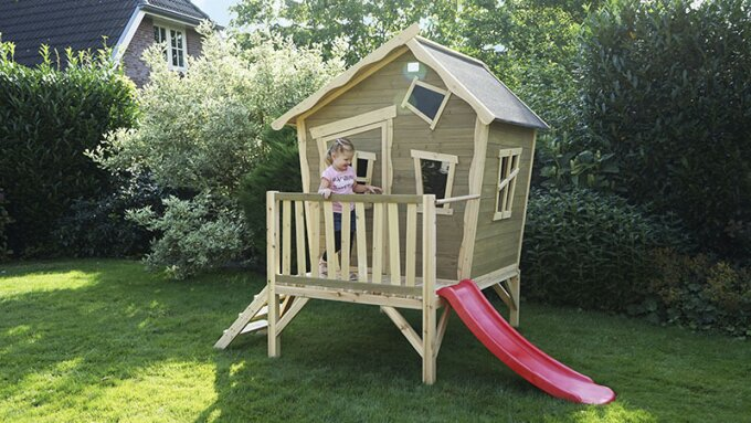 What is the best place for my EXIT wooden playhouse?