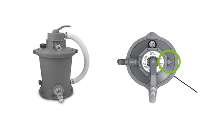 How does an EXIT sand filter pump work?