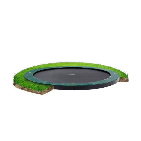EXIT InTerra ground-level trampoline ø366cm - green