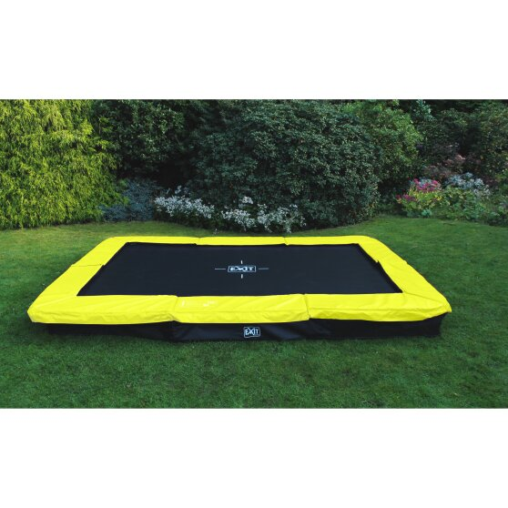 EXIT Silhouette ground trampoline 214x305cm - green