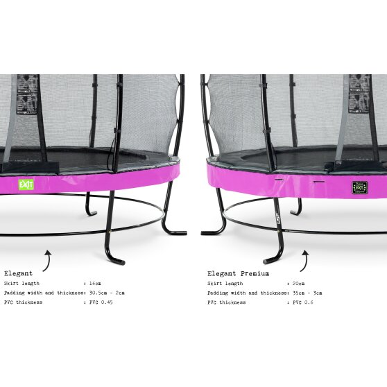 EXIT Elegant Premium trampoline ø305cm with Deluxe safetynet - purple