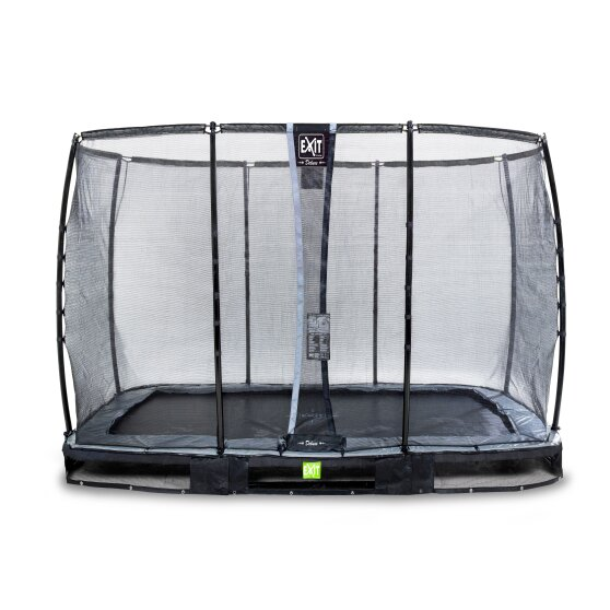 EXIT Elegant Premium ground trampoline 214x366cm with Deluxe safety net - black