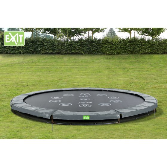12.61.10.01-exit-twist-ground-trampoline-o305cm-green-grey-7