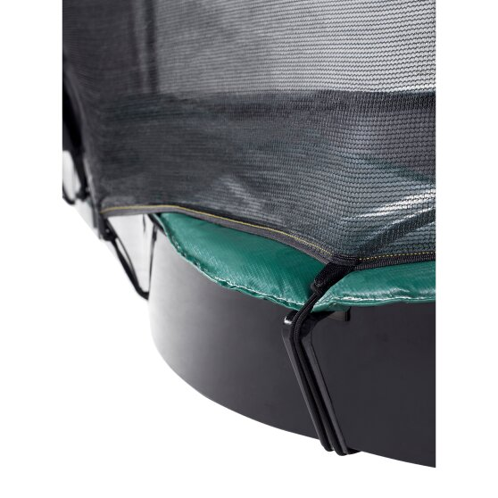 EXIT InTerra ground level trampoline ø305cm with safety net - green