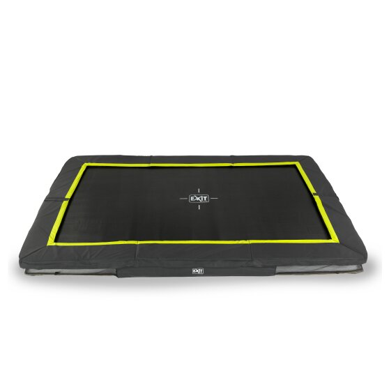EXIT Silhouette ground trampoline 214x305cm - black