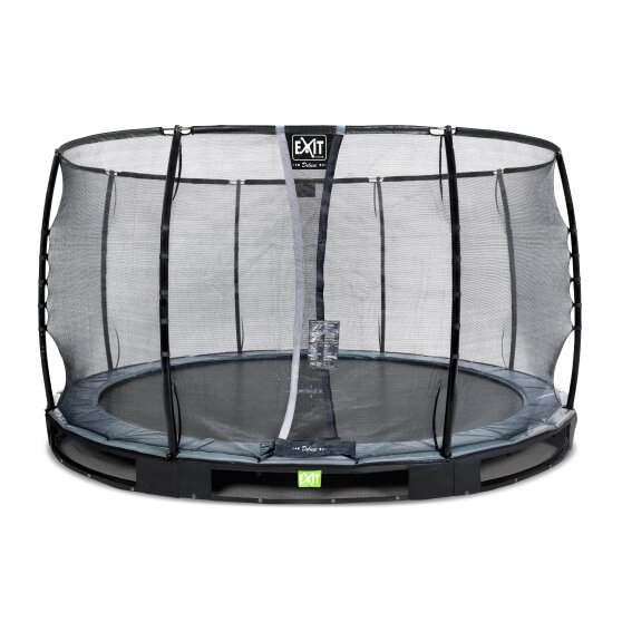 EXIT Elegant Premium ground trampoline ø366cm with Deluxe safety net - black