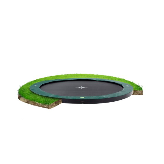 EXIT InTerra ground-level trampoline ø305cm - green