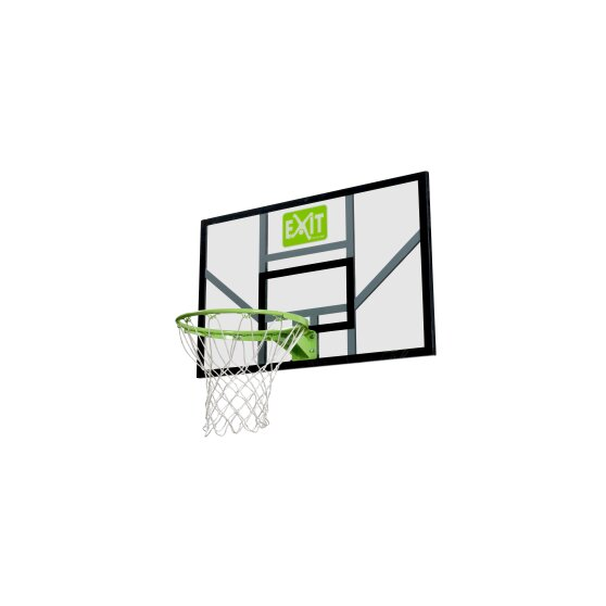EXIT Galaxy basketball backboard with hoop and net - green/black
