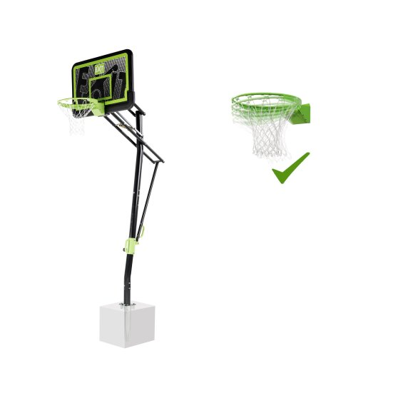 EXIT Galaxy basketball backboard for installing on ground with dunk hoop - black edition