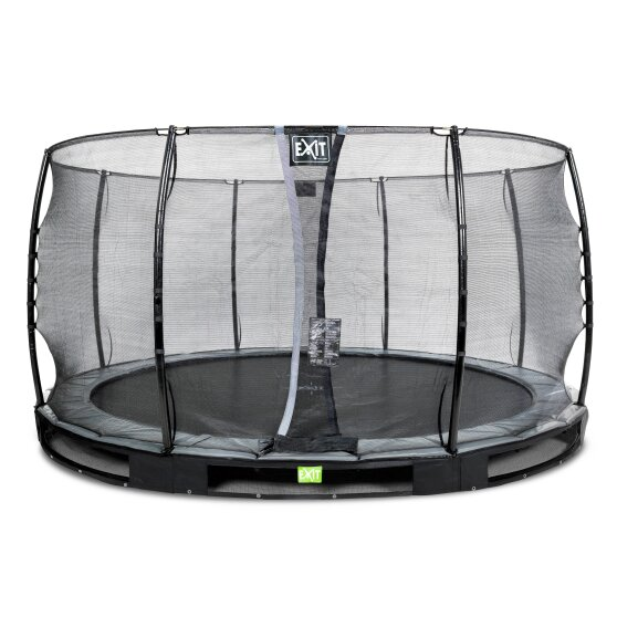 EXIT Elegant ground trampoline ø427cm with Economy safety net - black