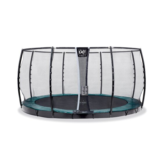 EXIT Supreme ground level trampoline ø366cm with safety net - green
