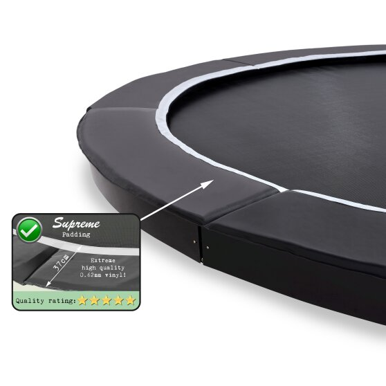 EXIT Supreme ground trampoline ø366cm - black