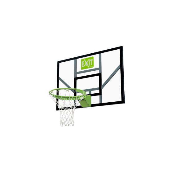 EXIT Galaxy basketball backboard with dunk hoop and net - green/black