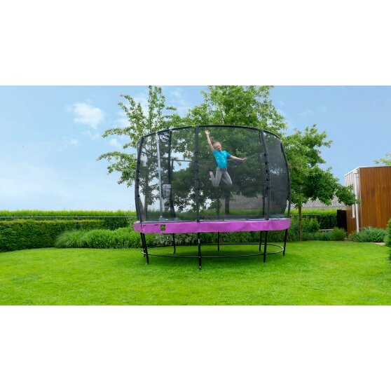 EXIT Elegant trampoline ø366cm with Economy safetynet - purple