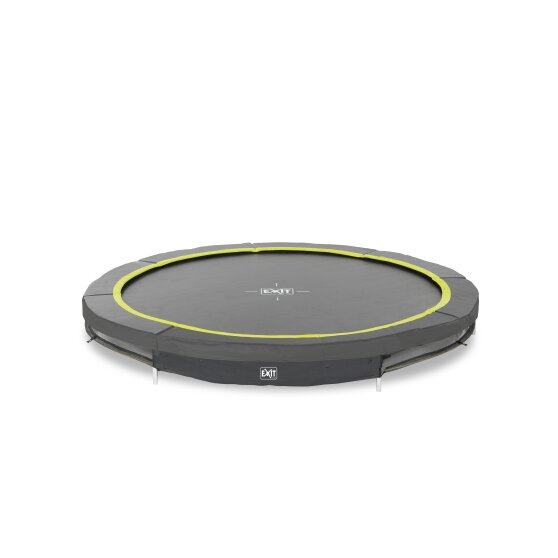 EXIT Silhouette ground trampoline ø244cm - black
