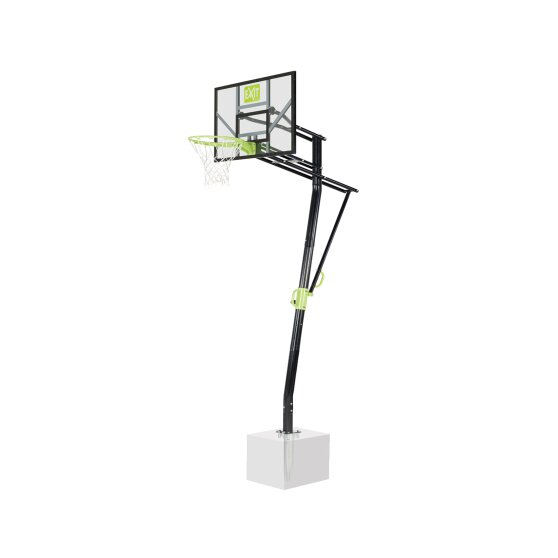 EXIT Galaxy basketball backboard for installing on ground - green/black