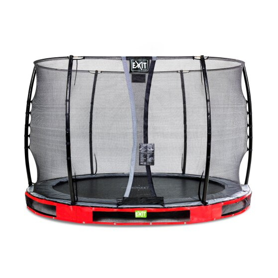 EXIT Elegant ground trampoline ø305cm with Economy safety net - red