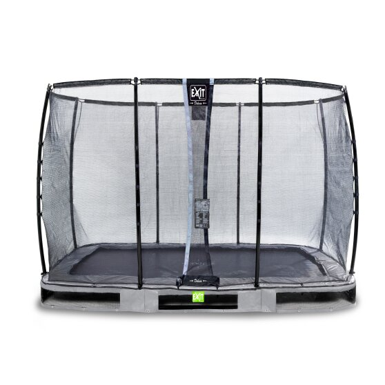 EXIT Elegant Premium ground trampoline 214x366cm with Deluxe safety net - grey