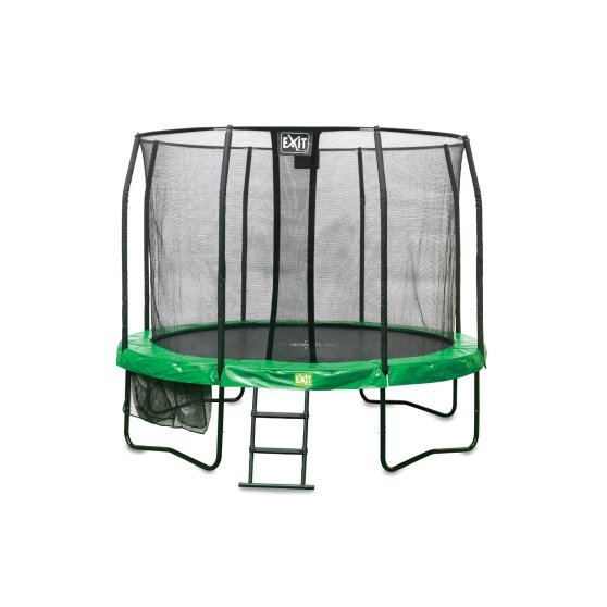 10.91.12.02-exit-jumparena-trampolin-o366cm-with-ladder-and-shoe-bag-green-grey