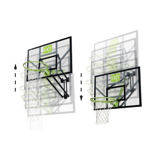 EXIT Galaxy wall-mounted basketball backboard - green/black