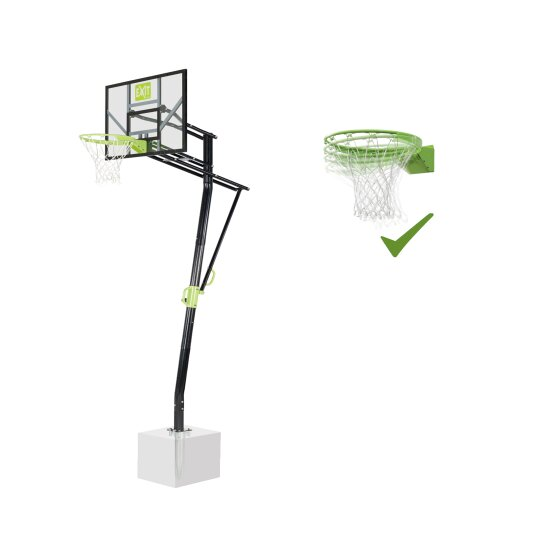 EXIT Galaxy basketball backboard for installing on ground with dunk hoop - green/black