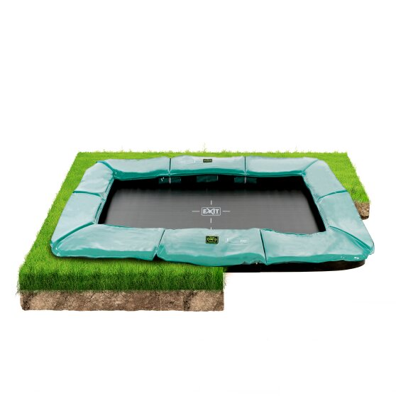 EXIT Supreme ground trampoline ø244x427cm - green