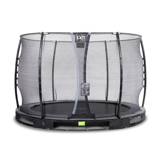 EXIT Elegant ground trampoline ø305cm with Economy safety net - black