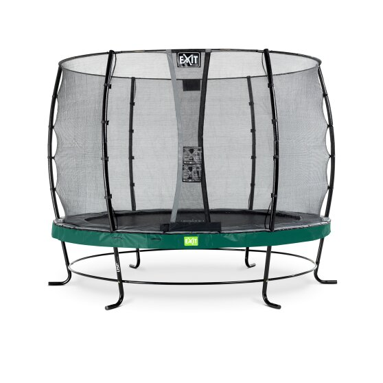 EXIT Elegant trampoline ø305cm with Economy safetynet - green