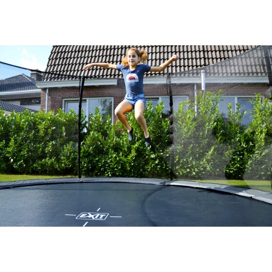 EXIT Elegant ground trampoline ø305cm with Economy safety net - purple