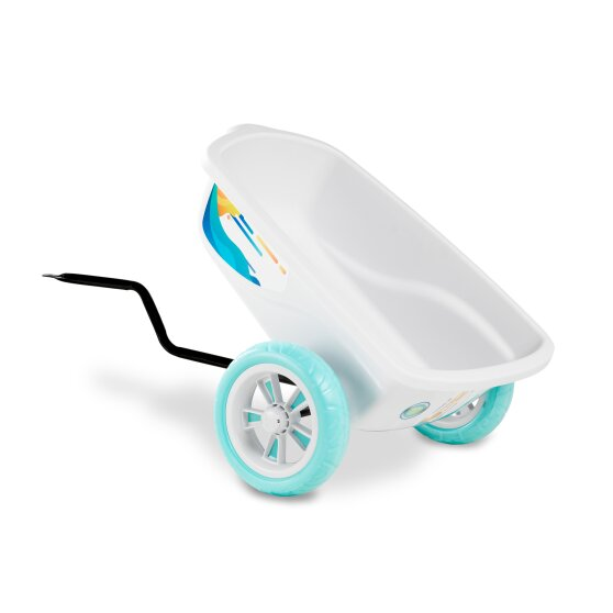 EXIT Foxy Club pedal go-kart with trailer - white