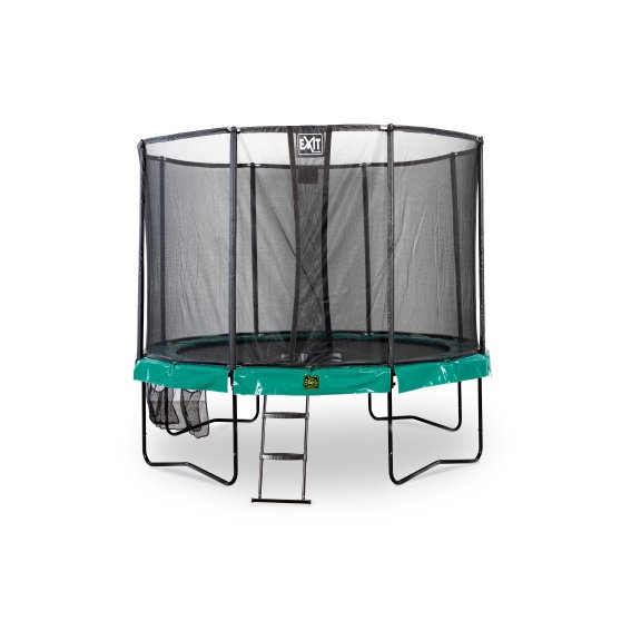 10.71.10.00-exit-supreme-trampoline-o305cm-with-ladder-and-shoe-bag-green