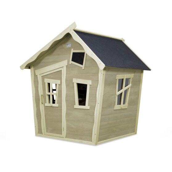 EXIT Crooky 100 wooden playhouse - grey-beige