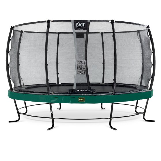 EXIT Elegant Premium trampoline ø427cm with Deluxe safetynet - green