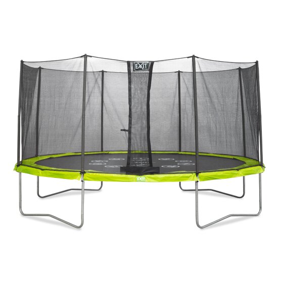 EXIT Twist trampoline ø427cm - green/grey