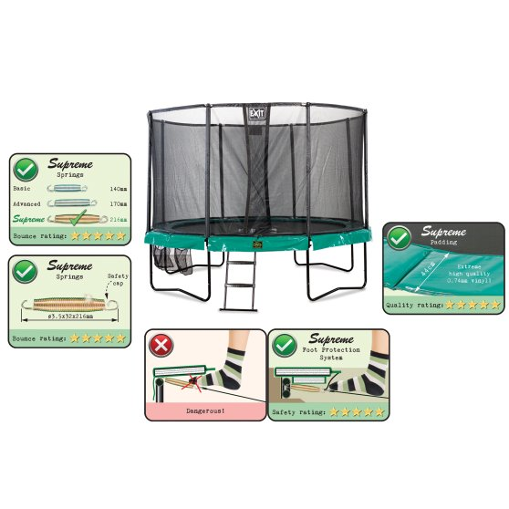 10.71.12.00-exit-supreme-trampoline-o366cm-with-ladder-and-shoe-bag-green-1