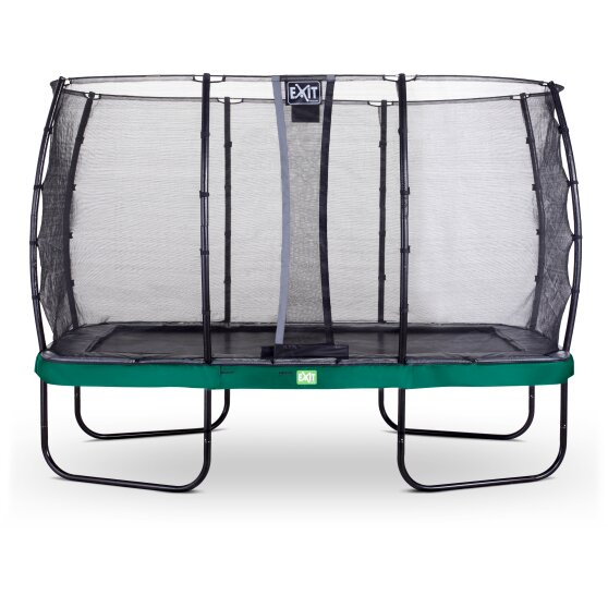 EXIT Elegant trampoline 244x427cm with Economy safetynet - green