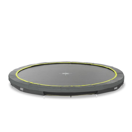 EXIT Silhouette ground trampoline ø427cm - black