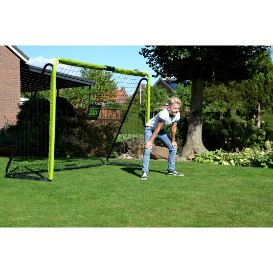 EXIT Tempo steel football goal 300x200cm - green/black