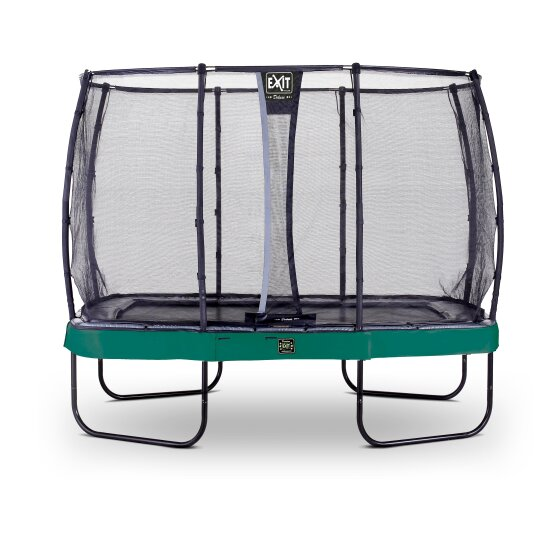 EXIT Elegant Premium trampoline 214x366cm with Deluxe safetynet - green