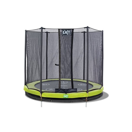 12.71.06.01-exit-twist-ground-trampoline-o183cm-with-safety-net-green-grey