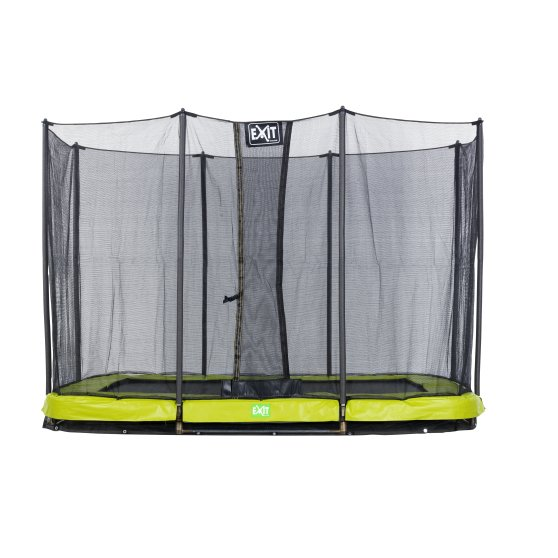12.51.10.01-exit-twist-ground-trampoline-214x305cm-with-safety-net-green-grey