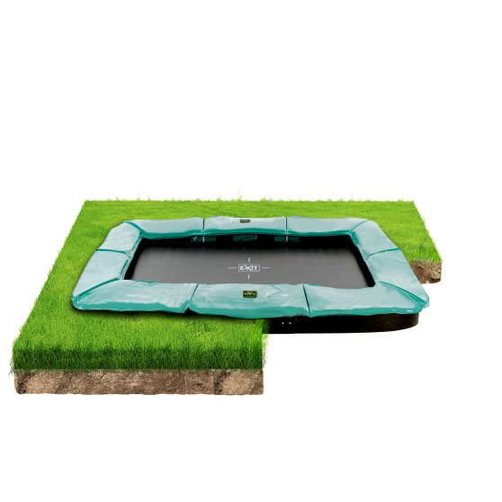EXIT Supreme ground trampoline 214x366cm - green