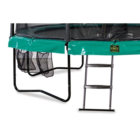 10.71.14.00-exit-supreme-trampoline-o427cm-with-ladder-and-shoe-bag-green-3