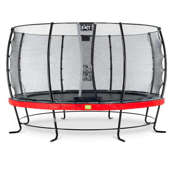 EXIT Elegant trampoline ø427cm with Economy safetynet - red