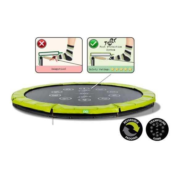 12.61.10.01-exit-twist-ground-trampoline-o305cm-green-grey-1