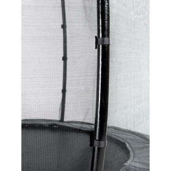 EXIT Elegant ground trampoline 244x427cm with Economy safety net - black