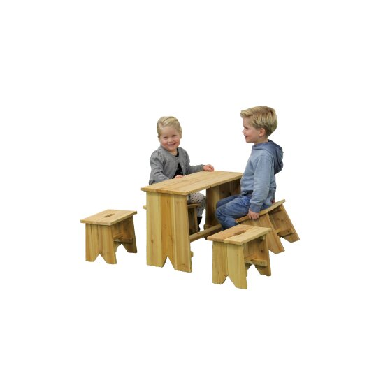 EXIT picnic set with four children stools