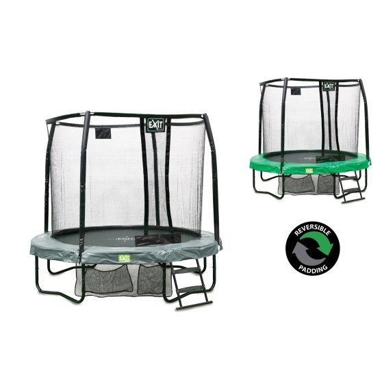 10.91.08.02-exit-jumparena-trampoline-o244cm-with-ladder-and-shoe-bag-green-grey-1