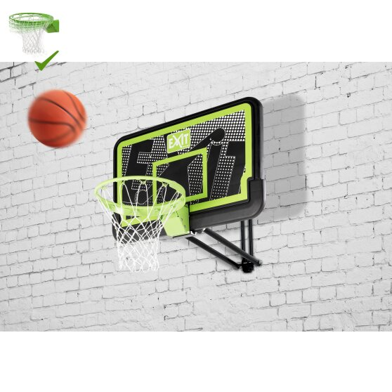 EXIT Galaxy wall-mounted basketball backboard with dunk hoop - black edition